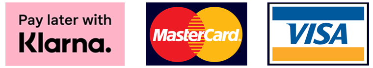 Pay later with Klarna, Mastercard ja Visa